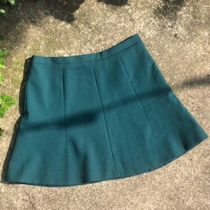 J. Crew flared mini skirt in dark green, 6